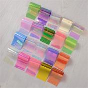 NICOLE DIARY 20Pcs/set Starry Sky Nail Foils Nail Art Transfer Sticker Decal Fashion DIY Nail Tips Decoration
