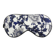 100% Pure Silk Sleep Mask Eye Cover Eyeshade Eyeshield Elastic Super Smooth Blindfold Breathable Relieve Fatigue for Travel Shift Work Meditation Printed Colours
