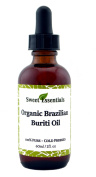100% Organic Buriti Fruit Oil   Imported From Brazil   60ml Glass Bottle With Glass Dropper   100% Pure   Cold-Pressed   Natural Moisturiser for Skin, Hair and Face   By Sweet Essentials