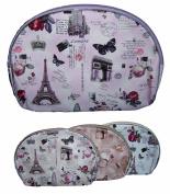 Paris London Cosmetics Bag Cosmetics Pouch Lot 6 or 12 Pcs (ACOSBAG27)