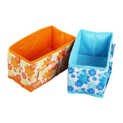 PIXNOR Makeup Storage Box Bag Flower Pattern Cosmetics Organiser Foldable Container