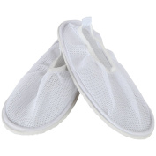 Home-X Women's Secure Slip Resistant Shower Shoes w/ Non Skid Heavy Duty Grooved Soles for Fall Prevention. Spa Slippers