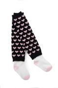Otium Brands Infant Leg Warmer Socks, Pink Hearts
