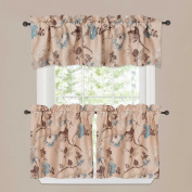 Window Valance Rustic Style Ultra Soft Material Suits for Kitchen Bath Laundry Bedroom Living Room