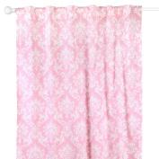 Pink Damask Print Blackout Window Drapery Panels - Two 210cm by 110cm Panels