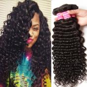 Donmily 7A Grade Brazilian Hair Deep Wave Virgin Human Hair Brazilian Curly Hair Weave 3 Bundles Unprocessed Natural Hair Extensions