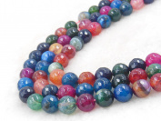 COIRIS 8MM Natural Agate Faceted Gem Round Loose Stone Beads for Jewellery Making & DIY & Design