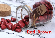 MDLG Vintage 90pcs Red Brown Heart Shape Bottled Glass for Wax Seal Sealing Stamp Wedding Invitations Adhesive Wax Sticks Beads
