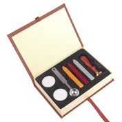 ONEVER Retro Wax Seal Stamps Kit | Harry Potter magic school badge | Wax Stick Spoon | Gift Box Set