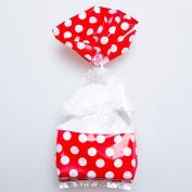 Red Window Polka Dot Cellophane Bags