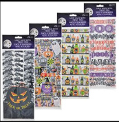 25-ct. packs of 5x11 Halloween cello loot bags