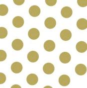 Gold Dots On White Tissue Bulk Pk 50cm x 80cm Sheets