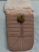 Cosy Coop Puffer Baby Bunting, Blush