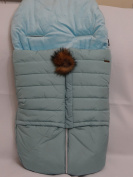 Cosy Coop Puffer Baby Bunting, Teal Blue