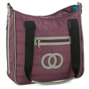 Cosy Coop Quilted Nappy Bag, Eggplant