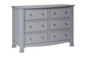 DaVinci Kalani 6 Drawer Double Wide Dresser KD, Grey