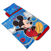 Disney Deluxe Mickey Mouse Cogs Nap Mat with Comfortable Cushioned Memory Foam Mat Perfect for Daycare, Play Dates, or Sleepovers, Best for Ages 1 Year and Up