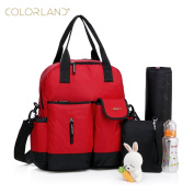 COLORLAND 4 way baby nappy bag backpack, tote, shoulder bag and cross body bag all in one. The baby nappy bag with matching changing mat.