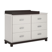 Ameriwood Cosco Leni 6 Drawer Dresser with Changing Table in White