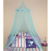 Bed canopy with Blue Floral Daisy Design, Girls