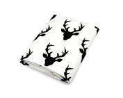 Olli & Lime Deer Crib Sheet, Black/White