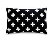 Olli & Lime Cross Pillow, Black/White
