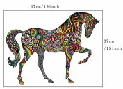 Cute A Colourful family Horse Wall Decals for kid Room Room Decor Baby Nursery