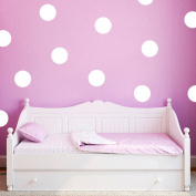 40pcs 5cm Polka Dots Nursery Wall Stickers Removable Kid Baby Vinyl Decal Decor Art Mural-White