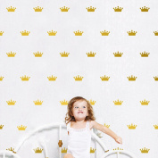 36Pcs Mini Princess Queen Royal Crown Pattern Removable Stickers Vinyl Decal Decor