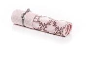 Elonka Nichole Baby Girl Damask Original Mimi Receiving Blanket, Pink/Grey, 90cm X 70cm