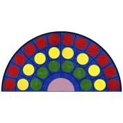 Joy Carpets Kid Essentials Early Childhood Half Round Lots of Dots Rug, Multicoloured, 4m