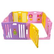 Baby Playpen Kids 8 Panel Safety Play Centre, Yard, Home, Indoor, Outdoor, Pink Girls