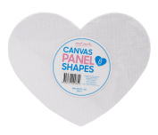 Mont Marte Canvas Panel Shapes 8Pce, Heart Designs, Arts And Craft