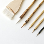6 PCS Professional Weasel Goat Wild Boar Hairs Watercolour Paint Brushes Chinese Japanese Calligraphy Sumi Brushes