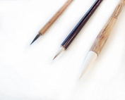 3 PCS Professional Goat Weasel Hairs Watercolour Paint Brushes Chinese Japanese Calligraphy Sumi Brushes
