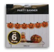 Spooky Halloween Decor Paper Jack o' Lantern Banner - 200cm