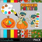 Pumpkin Painting - Digital Scrapbook Kit on CD