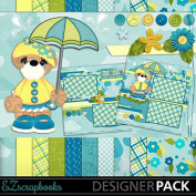 Rainy Day Bear - Digital Scrapbook Kit on CD