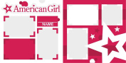 """American Girl"" Scrapbook Kit"