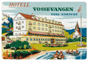 Hotel Vossevangen Voss Norway Reproduction Luggage Decal 7.6cm x 13cm