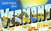 Vermont Greetings Reproduction Luggage Decal 7.6cm x 13cm