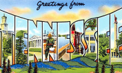 Tennessee Greetings Reproduction Luggage Decal 7.6cm x 13cm