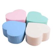 Yoyorule 4PC Pro Beauty Flawless Makeup Blender Foundation Puff Heart-shaped Sponge