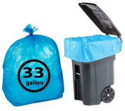 Blue Recycling Bags 124.9l By Primode - 100 Count Heavy Duty Trash Bags For Indoor Or Outdoor Use 33x39 MADE IN THE USA