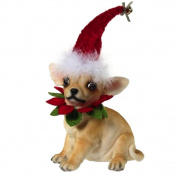 Mark Roberts Christmas Dogs Figure - Festive Chihuahua Sitting
