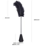 micrkrowen PU leather bondage leather fetishes flirt Bound ostrich feather black lace metal hand Clap