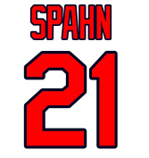 Warren Spahn Atlanta Braves Jersey Number Kit, Authentic Home Jersey Any Name or Number Available