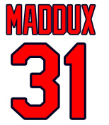 Greg Maddux Atlanta Braves Jersey Number Kit, Authentic Home Jersey Any Name or Number Available