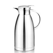 Hiware Thermal Carafe with Lid, 18/10 Stainless Steel Coffee Carafe, Double Walled Vacuum Carafe, Large Thermal Serving, Thermos Beverage Server, 1890ml