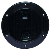 Beckson DP40B New Black 4 Screw-Out Deck Plate W/Smooth Centre Marine RV Boating Accessories